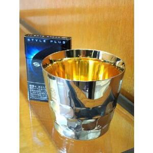 黄金に輝く燕市の金属グラスコップ、タンブラー、マグカップ黄金に輝く燕三条内面純金ステンレス製GSMポーチ付国産日本製|japan-made-skittle|02