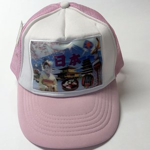 日本のおみやげ 3Dキャップ 日本 オールジャパン ピンク|japan