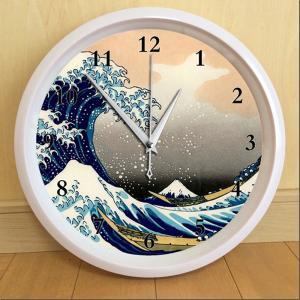 葛飾北斎 波裏 掛け時計(日本のアートクロック)|japan