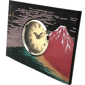 開運 インテリア・和柄パネル置時計 赤富士|japan