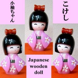 ミニこけし 小袖ピンク|japan