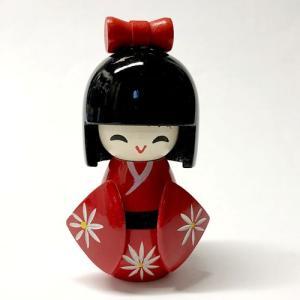 ミニこけし 小袖 赤|japan