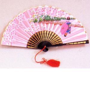 絹サテン扇子・舞妓|japan