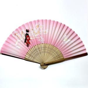 開運 扇子 舞妓さん (プラケース付き)|japan