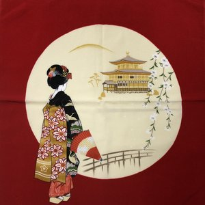 和風柄ふろしき 金閣舞妓|japan