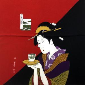 和風柄ふろしき お茶美人|japan