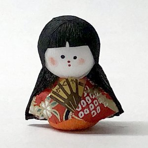 日本のおみやげ民芸玩具起き上がりこぼし人形 かぐや姫|japan