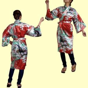 外国人向けハッピローブ 姫 赤|japan