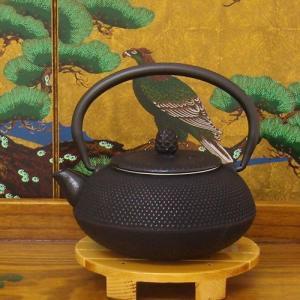 南部鉄器の急須鉄瓶・算玉アラレ柄 0.3リットル|japan