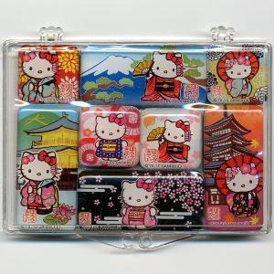 キティちゃん日本マグネット 8個セット|japan