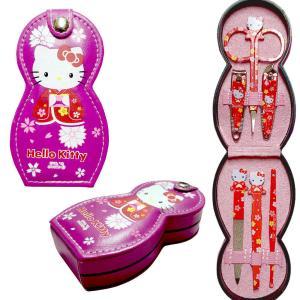 キティちゃん 爪切り6点セット(爪切り,毛抜き,耳かき 爪やすり,甘皮用爪切り,眉毛用はさみ)|japan
