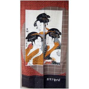 和風(暖簾)のれん 三美人|japan