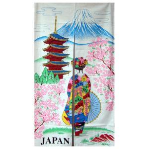 和風(暖簾)のれん 塔舞妓白 japan