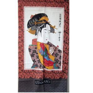 和風(暖簾)のれん 踊り子|japan