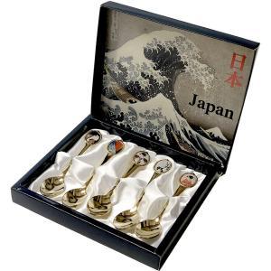 日本のアートスプーン 5本セット 浮世絵|japan