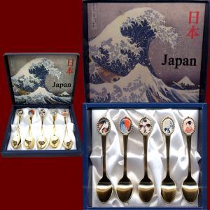 日本のアートスプーン 5本セット 浮世絵|japan|03