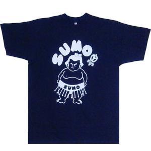 おもしろTシャツSUMO相撲 紺 3Lサイズ|japan|02