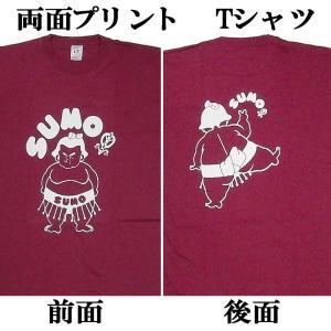 おもしろTシャツSUMO相撲 エンジ 3Lサイズ|japan