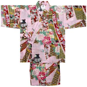 子供甚平 女の子用 お姫様 ピンク|japan