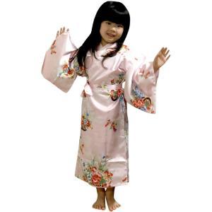 外国人向け子供着物 花車 ピンク japan