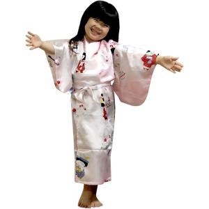外国人向け子供着物 子供の祭り ピンク japan
