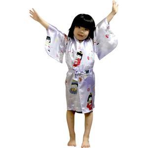 外国人向け子供着物 子供の祭り パープル japan