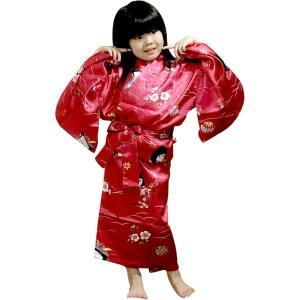 外国人向け子供着物 子供の祭り 赤 japan