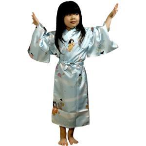 外国人向け子供着物 童(わらべ)水色 japan