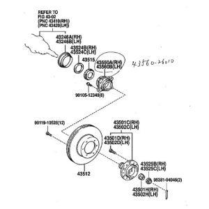 GMB製 フロント ハブベアリング ユニット GH21180(43560-26010)