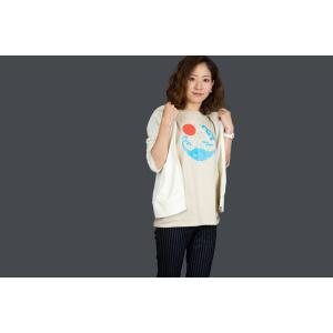アウトレット・和柄-Tシャツ富士山-からし色/Mサイズ/半袖/メンズ/レディース/ユニセックス japanesestandard