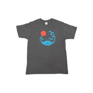 アウトレット・和柄Tシャツ-富士山-墨色/Mサイズ/半袖/メンズ/レディース/ユニセックス japanesestandard