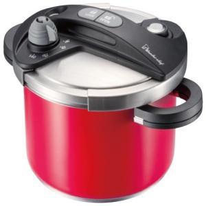 送料無料 キッチン用品 調理器具 鍋 圧力鍋 結婚 出産 内祝い 内祝 お返し ワンダーシェフ オースプラス 両手圧力鍋 5l レッド 670106 (4)|japangift