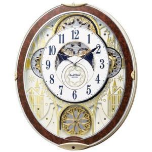 送料無料 時計 掛け時計 壁掛け 結婚 出産 内祝い 内祝 お返し スモール・ワールド 電波からくり掛時計 8MN407RH23 (3)|japangift