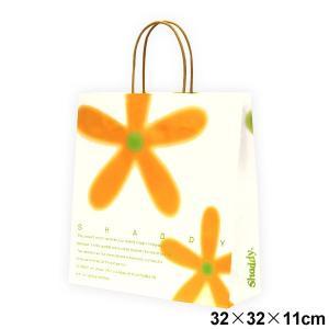 ギフトバッグ フラワー (紙袋) 中 サイズ:横32×縦32×マチ11cm ギフト|japangift