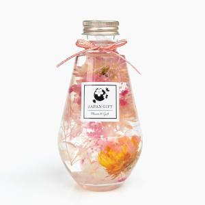 ハーバリウム ヘリクリサム(イエローMIX)&アジサイ(ピンク) オーバル瓶 電球 観葉植物 インテリア 雑貨 プリザーブドフラワー 花 ドライフラワー japangift