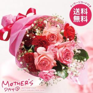 母の日ギフト 2018 カーネーション 母の日花束 赤系 母の日 ギフト プレゼント 花 セット 花束 ブーケ 送料無料 メーカー直送