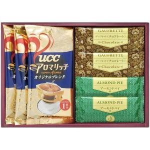 ●商品内容/チョコゴーフレット×2、アーモンドパイ×2、UCCアロマリッチオリジナルブレンド8g×3...