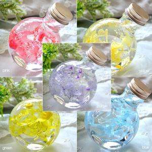 ハーバリウム ピュアローズ (ネコ瓶100ml) 5カラー Pure Rose 観葉植物 インテリア 雑貨 プリザーブドフラワー 花 ドライフラワー|japangift