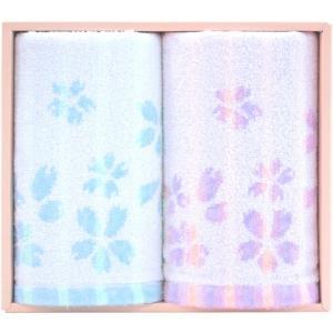 内祝い 内祝 お返し ふわふわ 無撚糸 ふわ桜 フェイスタオルセット ギフト 化粧箱入り|japangift