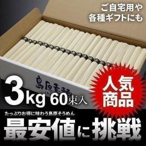 島原そうめん 島原素麺 お徳用3kg 50g×60束 NS-...