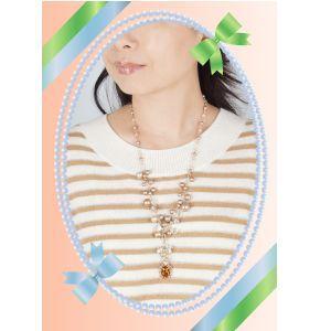 ギフト YUMI KATSURA ユミカツラ 桂由美 スワロフスキーデザインネックレス(ゴールドタイプ)|japangold|05