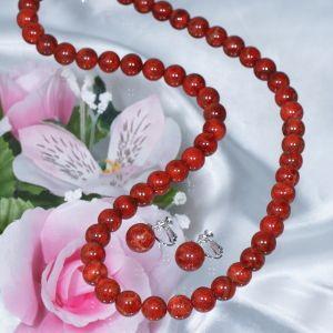 ギフト (ヒット商品)珊瑚ネックレス&イヤリング(60cm)|japangold