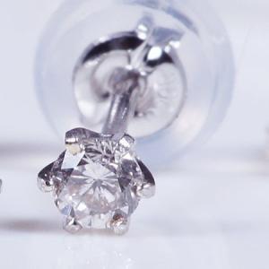 ギフト ダイヤ ピアス  計0.1カラット プラチナ シンプル 6本爪 4月誕生石 特別奉仕品|japangold|04