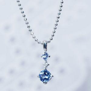 タンザナイト ダイヤ ペンダント ネックレス シルバー 12月 誕生石|japangold