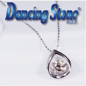 ギフト 特別奉仕品 Dancing Stone ダンシングストーン プラチナ良質SIクラス ダイヤペンダントネックレス ティア 0.3CT japangold