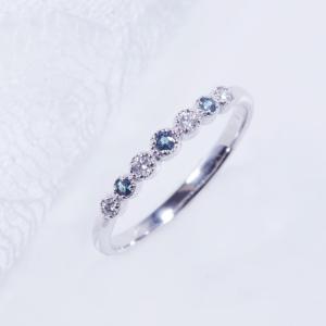 特別奉仕品 プラチナ アレキサンドライトダイヤ デザインリング japangold