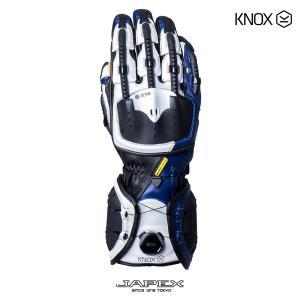バイク用プロテクショングローブ ノックス ハンドロイド マーク4 ブルー(日本正規代理店) KNOX Handroid Mark4|japex