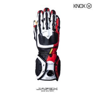 バイク用プロテクショングローブ ノックス ハンドロイド マーク4 レッド(日本正規代理店) KNOX Handroid Mark4|japex