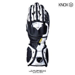 バイク用プロテクショングローブ ノックス ハンドロイド マーク4 ブラック/ホワイト(日本正規代理店) KNOX Handroid Mark4|japex