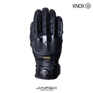バイク用プロテクショングローブ ノックス ハンドロイド ポッド マーク4 ブラック(日本正規代理店) KNOX Handroid POD Mark4|japex